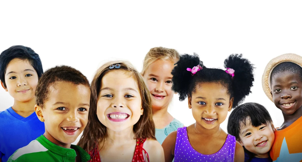 Smiling group of diverse children that are excited about custom compounded medications from Health First! Pharmacy in Windsor, CA.
